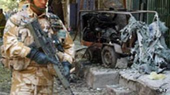 The aftermath of a suicide bombing in Baghdad
