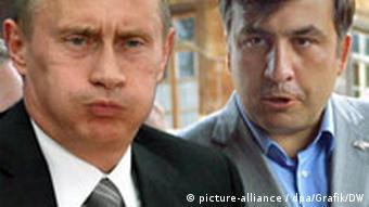 Strane u sukobu: premijer Rusije Vladimir Putin i predsednik Gruzije Mihail Sakašvili