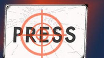 The word press used as a target practise