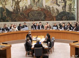 Members of the Security Council of United Nations in session