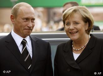 German Chancellor Angela Merkel with Russian President Vladimir Putin in 2005