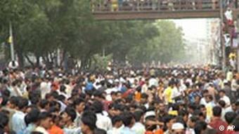 Arbeiterproteste in Mirpur in der Nähe von Dhaka (Foto: apn)
