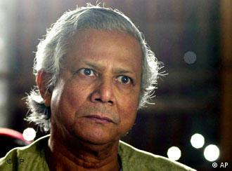 Yunus says his Grameen Bank is an institution of 'the people'