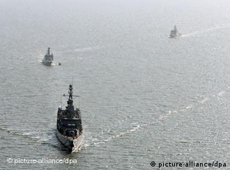 Three German ships at sea