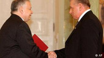 Polen Lech Kaczynski und Andrzej Lepper