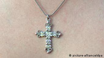 A necklace with a cross