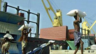 Hafen von Dschibuti Arbeiter