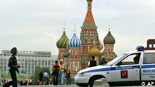 Russland Polizei Roter Platz in Moskau