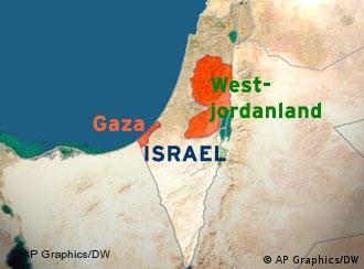 نوار غزه در جنوب غربی اسرائیل و در ساحل دریای مدیترانه