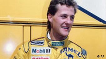 German pilot Michael Schumacher in Monza on September 09, 1991, during practice and racing the Grand Prix of Italy. (AP)