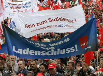 Germany's trade unions mobilized their members to protest this weekend