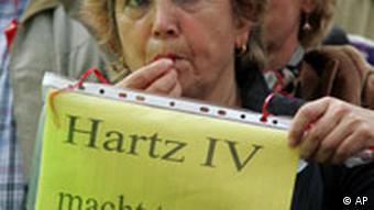 Demo gegen Sozialpolitik in Berlin