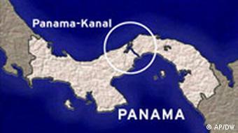 Karte Panama mit Panama-Kanal
