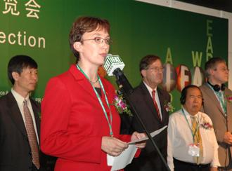 德国联邦环保部议会国务秘书克鲁格女士在中国参加环保论坛