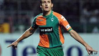 Klose im Spiel Werder Bremen gegen Mainz