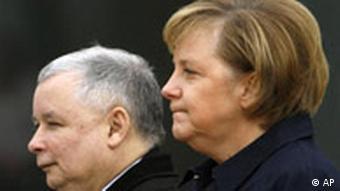 Staatsbesuch Polen - Deutschland Bundeskanzlerin Angela Merkel und Polens Ministerpräsident Jaroslaw Kaczynski in Berlin