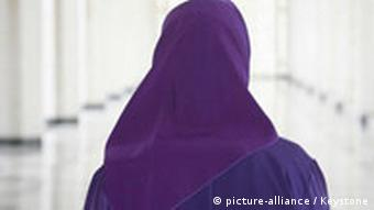 A woman with a headscarf