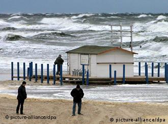 A Baltic Sea beach in stormy weather