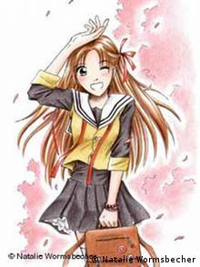 Menolly, Manga Comicfigur von Natalie Wormsbecher