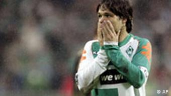 Bremen's Diego rues a missed opportunity