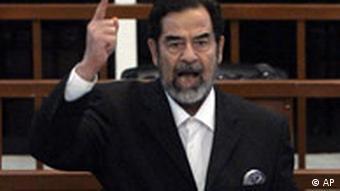 Saddam Hussein reagiert auf sein Todesurteil