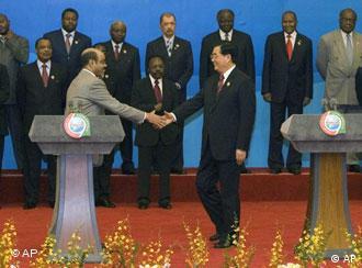 Chinas Präsident Hu Jintao und Äthiopiens Premierminister Meles Zenawi