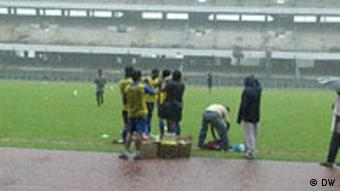 India's national players practise in the monsoon rains