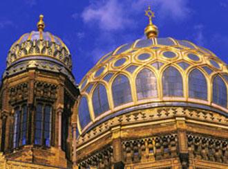 Nova Sinagoga, reconstruída após a Segunda Guerra e reinaugurada em 1995