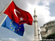 Турецкий и европейский флаги