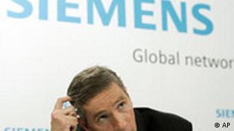 Siemens Deutschland Klaus Kleinfeld Pressekonferenz in München