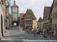 Rothenburg ob der Tauber, considerada a mais preservada cidade medieval alemã