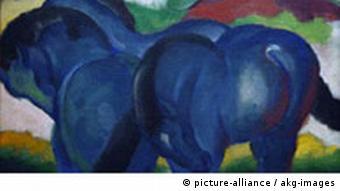 Franz Marc Die kleinen blauen Pferde Stuttgart