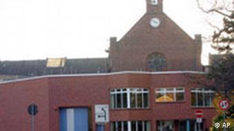 brick building of detention center in siegburg