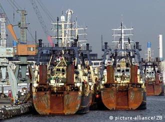 Fischtrawler im Mecklenburger Fischereihafen