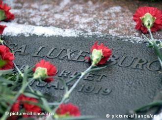 Надгробная плита на могиле Розы Люксембург