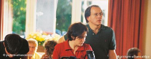 Regisseur Michael Hofmann bei Dreharbeiten