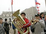Protestas estudiantiles en Santiago, en 2006.