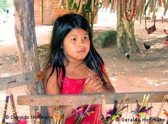 Una niña guaraní en el Estado brasileño de Espirito Santo.