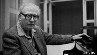 Olivier Messiaen / Foto 1983 Messiaen, Olivier franz. Komponist und Organist; Avignon 10.12.1908 - Paris 27.4.1992. Foto, Paris, 1983. Bild für Kalenderblatt