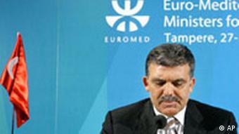 EU Mittelmeerländer Türkei Außenminister Abdullah Gül in Finnland