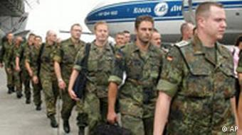 German troops arrive in Kinshasa