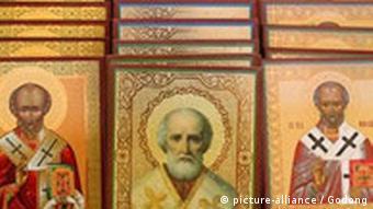 Ikonen des Heiligen Nikolaus Türkei Anatolien