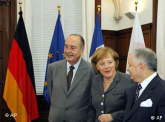 Merkel's meeting with Chirac and Kaczynski provided a diplomatic bridge to Russia