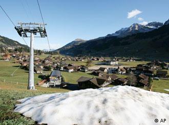 Falta de nieve en los Alpes.