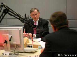 Horst Köhler being interviewed for Deutsche Welle