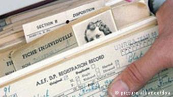 Index-sized cards in the Bad Arolsen archive