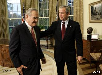 Mr Bush da MR Rumsfeld