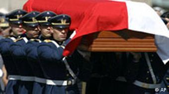 Chile Beerdigung von Augusto Pinochet in Santiago Sarg