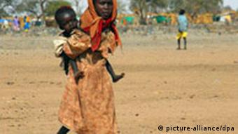 Children in a refugee camp in Darfur