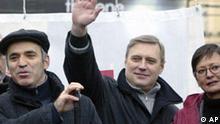 Russland Opposition Bündnis Gary Kasparow Demonstration Moskau